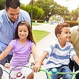 WENTS Campanas de Bicicleta para niños 2pcs y Bicicleta Streamer Scooter Streamer Accesorios 4pcs Piezas de Bicicleta para niños pequeños