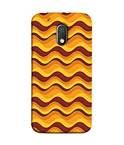 PrintVisa Designer Back Case Cover for Moto G Play (4th Gen) :: Motorola Moto G4 Play (Colourful Waves Water Zigzag Drawings)
