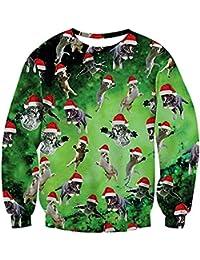 uideazone Unisex Pullover Pulls Sweatshirt 3D Imprimé Galaxy Shirt à Manches Longues