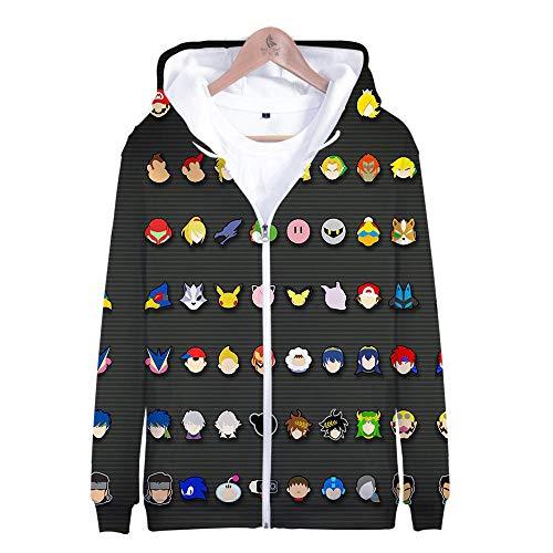Alle Bros Smash Kostüm - Kapuzenpullover,Super Smash Bros Man Beiläufige Hoodies Pullover Langarm 3D Pullover Sweatshirts Lust auf Hoodie mit @ Anime_M