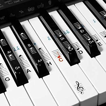 Klavieraufkleber Für Keyboards Mit 88//61//54 Tasten Transparent Und Ent