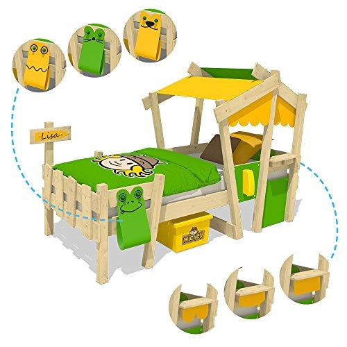 WICKEY Kinderbett CrAzY Candy Jugendbett 90x200cm mit Lattenboden, gelb-apfelgrün - 4