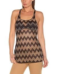 Freesoul Women's Graphic Round Collar Sleeveless T-Shirt