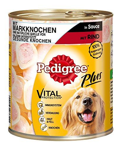 Pedigree Adult Plus Hundefutter Markknochen – Rind in Sauce, 12 Dosen (12 x 800 g) - 2