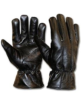 Classic de hombre vestido de conductor guantes piel de cordero guantes de piel auténtica suave forro polar negro...