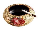 Black Temptation [Rose Coffee] Vintage ceramica posacenere sigarette vassoio di cenere decorazione da tavolo