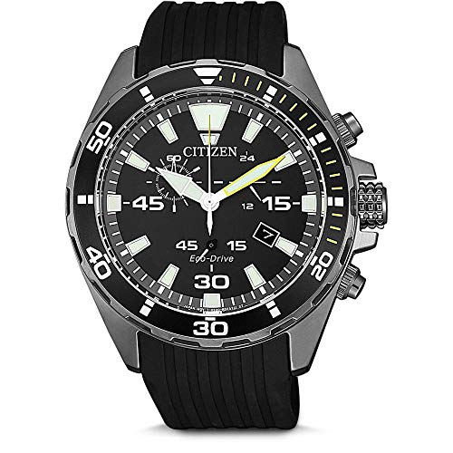 Citizen Herren Analog Quarz Uhr mit Kunststoff Armband AT2437-13E