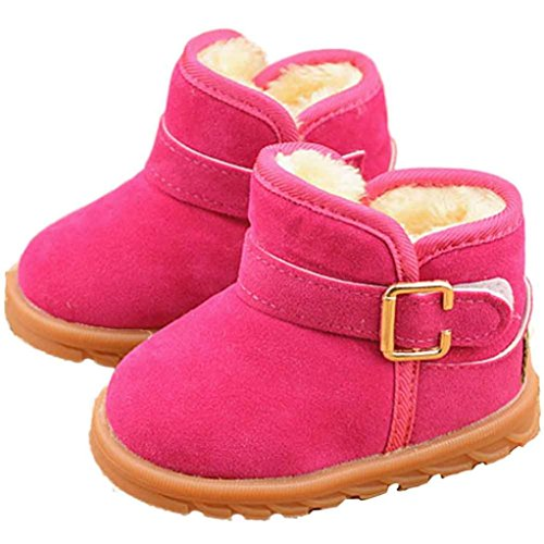FEITONG Baby Winter Kind Mode Art Baumwoll Schuhe Stiefel Warmer Schnee Stiefel (5 ~ 6 Alter, Khaki) Hot Pink