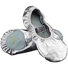 Amazon it Argento Scarpe Ballo Bambina 44HrnxB