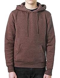 REDRUM Hoodie Kapuzenpullover Sweatshirt mit Kapuze Baumwolle Streetwear Style Hoody mel Braun