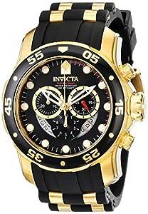 Invicta 6981 - Reloj cronógrafo de caballero de cuarzo con correa de goma negra de Invicta