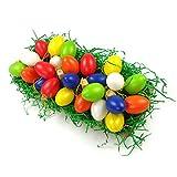 süße kleine Deko Eier Kunststoff Eier Ostern Osterdekoration Ostereier Dekoeier (OST-24er-Bunt-4cm)