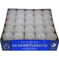 Teelicht Nightlights 50er Box transparente Hülle Brenndauer ca. 8 Std.