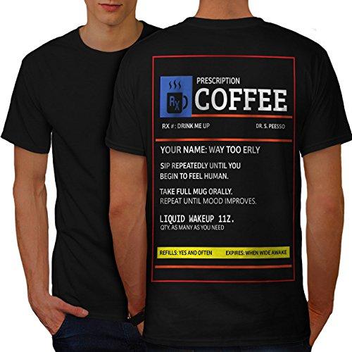 Cappuccino Für Rezept (wellcoda Kaffee Rezept Männer 2XL Ringer T-Shirt)