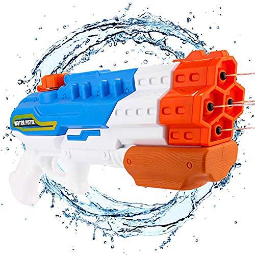 Queta Wasserpistole mit Hohe Kapazität 1200-1500ML Spritzpistole für Kinder Erwachsene Strand Wasser Pool Party Sommer Spielzeug Geburtstag Geschenk (Party Erwachsene Für)