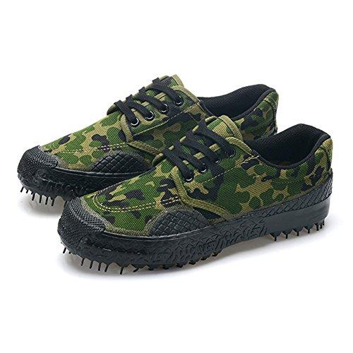 Hibote Unisexe Casual Respirant Camouflage Militaire Trainers Armée Sport Chaussures Durable Non-Slip Low-Top Sneakers en Plein Air Travail Chaussures Trekking Randonnée Chaussures Camouflage 1 #