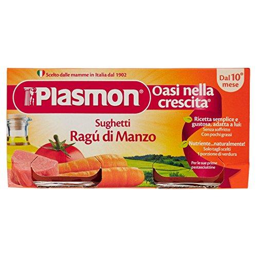 Plasmon Sughetto Ragù di Manzo - 2 Pezzi da 80