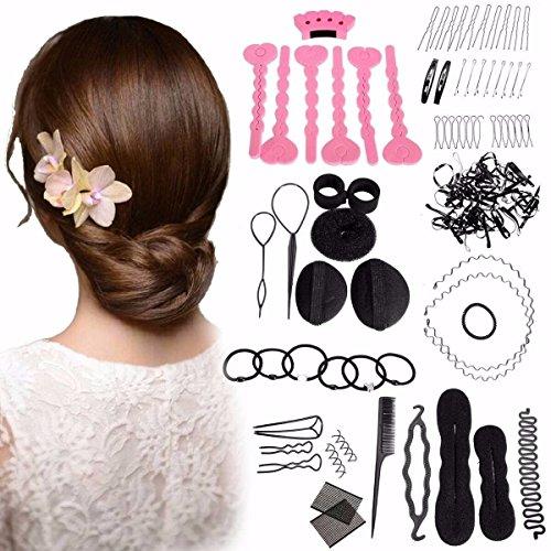 Veewon DIY Haarschmuck Frauen Haar Design Styling Clip Band Hairpin Kamm Twist Zubehör Werkzeuge Kits, 20pcs/Set