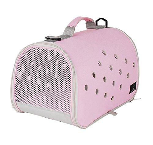Pet Carrier Piccolo Cane Gatto Traspirante Borsa Pieghevole Portatile Per Esterni Parco Walking Escursioni Con Mat , pink