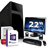 Komplett PC Set Office/Multimedia inkl. Windows 10 Pro 64-Bit! - AMD Dual-Core A6-5400K 2X 3,8GHz Turbo - Radeon HD 7540D - 8GB DDR3 RAM - 1000GB HDD - ASUS 22 Zoll TFT Monitor - 24-Fach DVD Brenner
