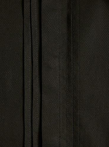 oodji Ultra Herren Tailliertes Hemd mit Umschlagmanschetten Schwarz (2900N)