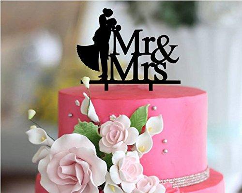Preisvergleich Produktbild Personalized Wedding Cake Topper Monogram Last Name Surname Decoration Anniversary Gift