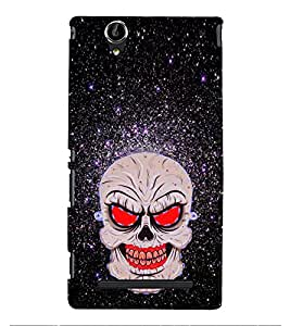Fiobs Designer Phone Back Case Cover Sony Xperia T2 Ultra :: Sony Xperia T2 Ultra Dual SIM D5322 :: Sony Xperia T2 Ultra XM50h ( Red Skull )