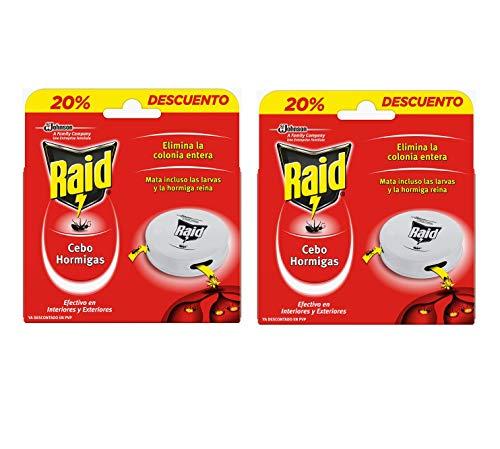 Raid - Trappole esche contro formiche, efficace contro la colonia e le larve [confezione da 2]