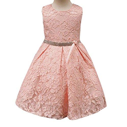 Kleid, Dasongff Baby Mädchen Spitzen Blumenmädchenkleid Kinder Festlich Hochzeits Kleid Prinzessin Brautjungfern Partykleider Festzug (80, Rosa) (Cartoon Kostüme Für Mädchen)