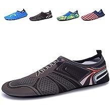 Santiro Unisexe Barefoot Peau Chaussures Chaussettes Eau Sports pour Beach Beach Natation Surf Yoga Fitness d'exercice.