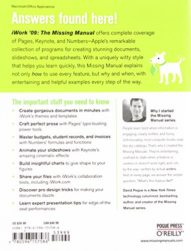 iWork '09: The Missing Manual