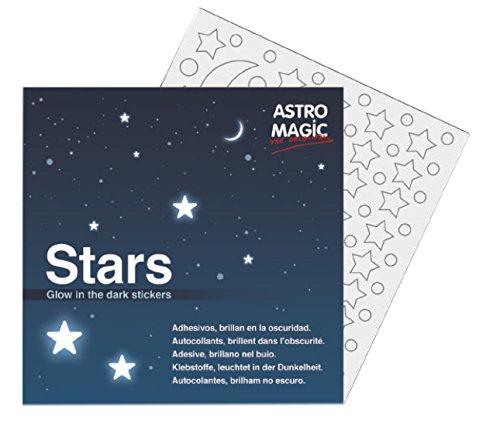 leuchtende Sternaufkleber - 126 verschiedene Größeneinheiten - Monde Planeten und Sterne des Universums - Glow in the dark - Astromagic Original