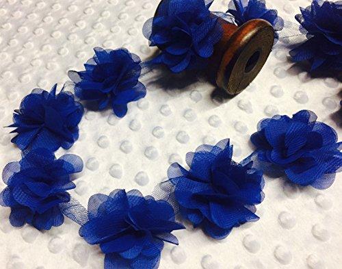 LushFabric Blumenblätter Chiffon Blätter Bordüre – Hochzeitskleid Brautkleid Spitzenstoff pro...