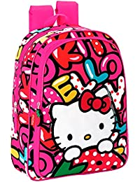 Perona Hello Kitty Mochila Escolar, 37 cm, Multicolor