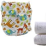 lukloy–Erwachsene Stoffwindeln Windeln mit 2Einsätze für Inkontinenz Care–Dual Opening Pocket waschbar verstellbar wiederverwendbar leakfree (1)