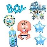 Crazy-M 7 Piezas de Helio Globo bebé lámina Globo bebé Ducha decoración, Babyshower Es un niño...