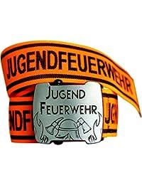 Jugendfeuerwehr Gürtel mit Flaschenöffner Stretch leuchtorange/schwarz 85 oder 105cm