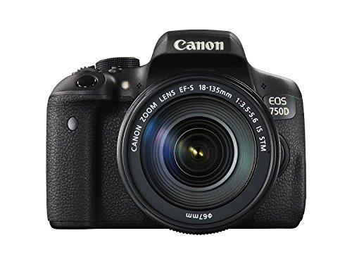 Canon EOS 750D 24.2MP Digital SLR Camera (Black) with Body...