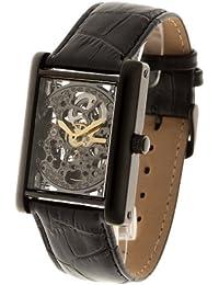 Yves Camani YC1022-C - Reloj de caballero automático, correa de piel color negro