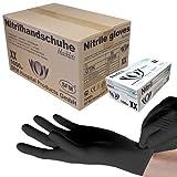 SFM  BLACKLETS Nitril : XS, S, M, L, XL schwarz puderfrei F-tex Einweghandschuhe Einmalhandschuhe Untersuchungshandschuhe Nitrilhandschuhe M (1000)