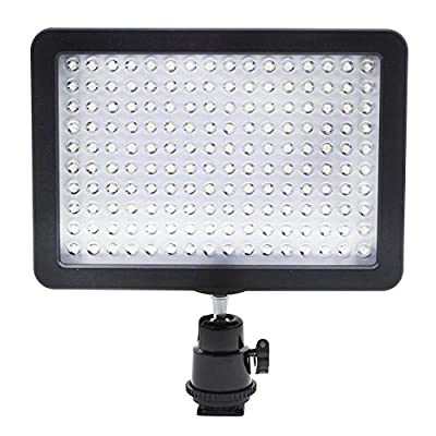 Bestlight Ultra High Power 160 LED Video Light Panel with Shoe Adapter for Canon, Nikon, Olympus, Pentax DSLR and Camcorders produced by Neewer - quick delivery from UK.