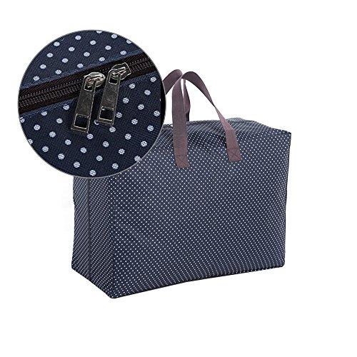 Harson&Jane Impermeabile 600D Oxford Panno Deposito borsa organizzatore per Mossa Casa viaggi Organizza Home lenzuola (Blu navy) Rosso
