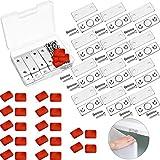 12 Sets Loquet de Porte Magnétique Loquet de Porte de Cabinet avec Vis et Adhésif pour Placard de Cabinet et Meubles de Bureau de Maison