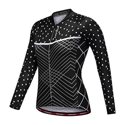 Toygogo Damen Fahrradbekleidung Fahrradtrikot Sportswear Langarm Sportwear - S