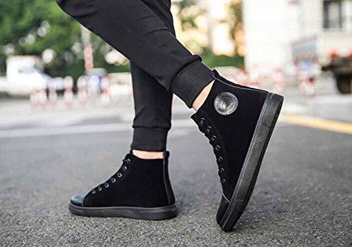 Hommes Salut-top Sneakers 2017 Automne Nouveau Skateboard Chaussures Casual Chaussures Plates Noir