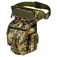 Leg Bag Waterproof Camouflage Tactical Thigh Multi-pocket Utility Pouch Waist Pack for Outdoor activities - Dark Green