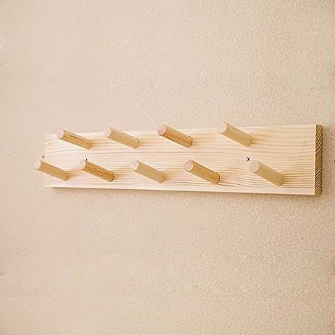 La parete ganci dopo una porta appendiabiti parete creative in vero legno appendiabiti camera da letto soggiorno parete , dragnets appendiabiti vernice registri 9 gancio a doppia fila
