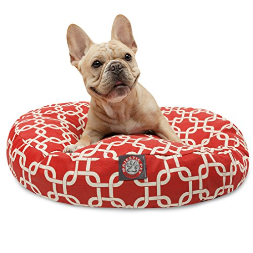Majestic Pet Red Links Small Round Indoor Outdoor Bed Cane con Fodera Rimovibile e Lavabile Copertura by Prodotti