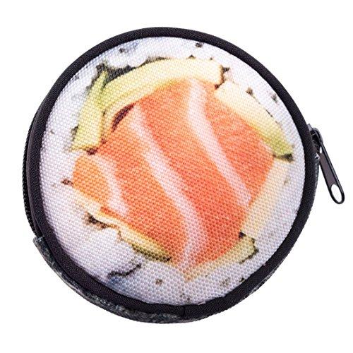 dbörse mit Reißverschluss Taschenorganizer Münzbörse Sushi [041] (Hello Kitty Marihuana-zubehör)