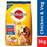 #5: Pedigree Dry Dog Food, Chicken & Vegetables for Adult Dogs – 3 kg